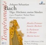BACH - Gester - Tilge, Höchster, meine Sünden, motet pour deux voix, cor