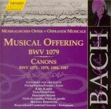 BACH - Von der Goltz - L'offrande musicale(Musikalisches Opfer), pour f Vol.133