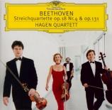 BEETHOVEN - Hagen Quartett - Quatuor à cordes n°4 op.18-4