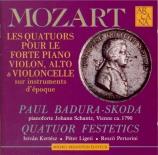 MOZART - Badura-Skoda - Quatuor pour piano et cordes en sol mineur K.478