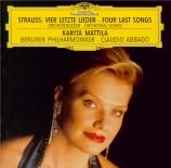 STRAUSS - Mattila - Vier letzte Lieder (Quatre derniers lieder), pour so