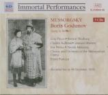 MOUSSORGSKY - Panizza - Boris Godounov (chanté en italien, 9 - 12 - 1939) chanté en italien, 9 - 12 - 1939