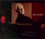 BRAHMS - Rubinstein - Sonate pour piano n°3 en fa mineur op.5 (Vol.63) Vol.63