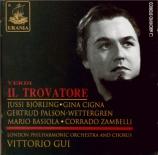 VERDI - Gui - Il trovatore, opéra en quatre actes (version originale 185 Live 12 mai 1939 au Covent Garden