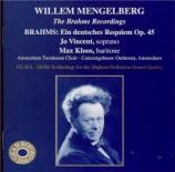 BRAHMS - Mengelberg - Ein deutsches Requiem (Un Requiem allemand), pour