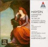 HAYDN - Harnoncourt - Harmoniemesse, pour solistes, chœur mixte, orchest