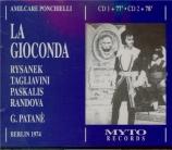 PONCHIELLI - Patané - La Gioconda (Live Berlin, 1 - 3 - 1974) Live Berlin, 1 - 3 - 1974