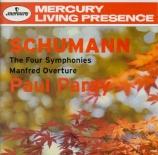 SCHUMANN - Paray - Symphonie n°1 pour orchestre en si bémol majeur op.38