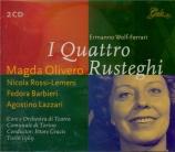 WOLF-FERRARI - Gracis - I quatro rusteghi (live RAI Torino 21 - 12 - 1969) live RAI Torino 21 - 12 - 1969
