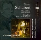 SCHUBERT - Zacharias - Quintette avec piano en la majeur op.posth.114 D