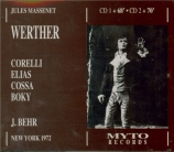 MASSENET - Behr - Werther, drame lyrique