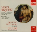 VERDI - Giulini - Messa da requiem, pour quatre voix solo, chœur, et orc