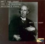 SCHUMANN - Sauer - Concerto pour piano et orchestre en la mineur op.54