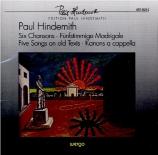 HINDEMITH - Parkman - Chansons (6)