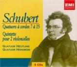 SCHUBERT - Quatuor Heutlin - Quatuor à cordes n°8 en si bémol majeur op
