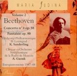 BEETHOVEN - Yudina - Concerto pour piano n°4 en sol majeur op.58