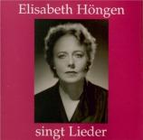 WAGNER - Höngen - Wesendonck-Lieder, pour voix et piano WWV.91a