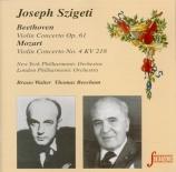 BEETHOVEN - Szigeti - Concerto pour violon op.61