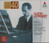 BACH - Leonhardt - Concerto pour flûte, violon et clavecin en la mineur