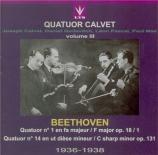 BEETHOVEN - Quatuor Calvet - Quatuor à cordes n°1 op.18-1