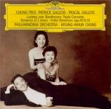BEETHOVEN - Chung - Triple concerto pour piano, violon et violoncelle op