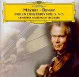 MOZART - Dumay - Concerto pour violon et orchestre n°3 en sol majeur K.2