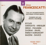 Zino Francescatti Vol.1