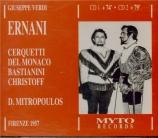 VERDI - Mitropoulos - Ernani, opéra en quatre actes Live, Firenze 25 - 06 - 1957