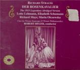 STRAUSS - Heger - Der Rosenkavalier (Le chevalier à la rose), opéra op.5