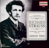 STRAUSS - Odeon Trio - Trio avec piano n°1