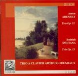 ARENSKY - Trio à clavier - Trio avec piano n°1 op.32