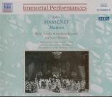 MASSENET - Abravanel - Manon (live MET 13 - 2 - 37) live MET 13 - 2 - 37