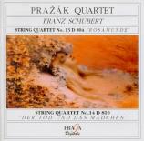 SCHUBERT - Prazak Quartet - Quatuor à cordes n°13 en la mineur op.29 D.8