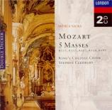MOZART - Cleobury - Messe en do majeur, pour solistes, chœur, orgue et o