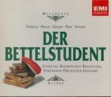 MILLÖCKER - Allers - Der Bettelstudent (L'étudiant mendiant)