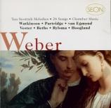 WEBER - Watkinson - Lieder
