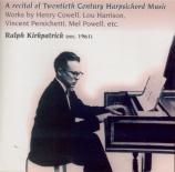 A Program of Twentieth Century Harpsichord Music