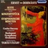 DOHNANYI - Vasary - Suite pour orchestre en fa dièse mineur op.19