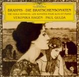 BRAHMS - Hagen - Sonate pour alto et piano n°1 en fa mineur op.120 n°1