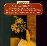 HINDEMITH - Bashmet - Sonate pour alto et piano op.11 n°4