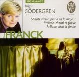 FRANCK - Södergren - Prélude, aria et final, pour piano en mi majeur FWV