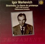 STRAVINSKY - Markevitch - Le sacre du printemps, ballet pour orchestre