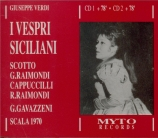 VERDI - Gavazzeni - I vespri siciliani, opéra en cinq actes (version 185 live Scala di Milano, 12 - 1970