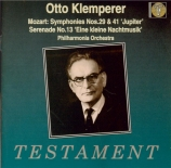MOZART - Klemperer - Symphonie n°29 en la majeur K.201 (K6.186a)