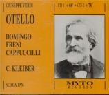 VERDI - Kleiber - Otello, opéra en quatre actes (Live Milano) Live Milano