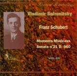 SCHUBERT - Sofronitsky - Sonate pour piano en si bémol majeur D.960 Vol.12
