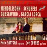 MENDELSSOHN-BARTHOLDY - Sartova - Italien (Grillparzer), pour voix et pi Chant et guitare