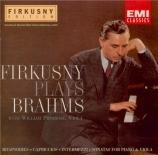 BRAHMS - Firkusny - Rhapsodie pour piano n°2 en sol mineur op.79 n°2