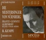 WAGNER - Kempe - Die Meistersinger von Nürnberg (Les maîtres chanteurs d live Dresden, 1951