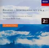 BRAHMS - Kertesz - Symphonie n°3 pour orchestre en fa majeur op.90